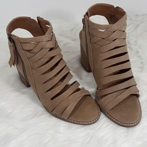 Ankle peeptoe booties